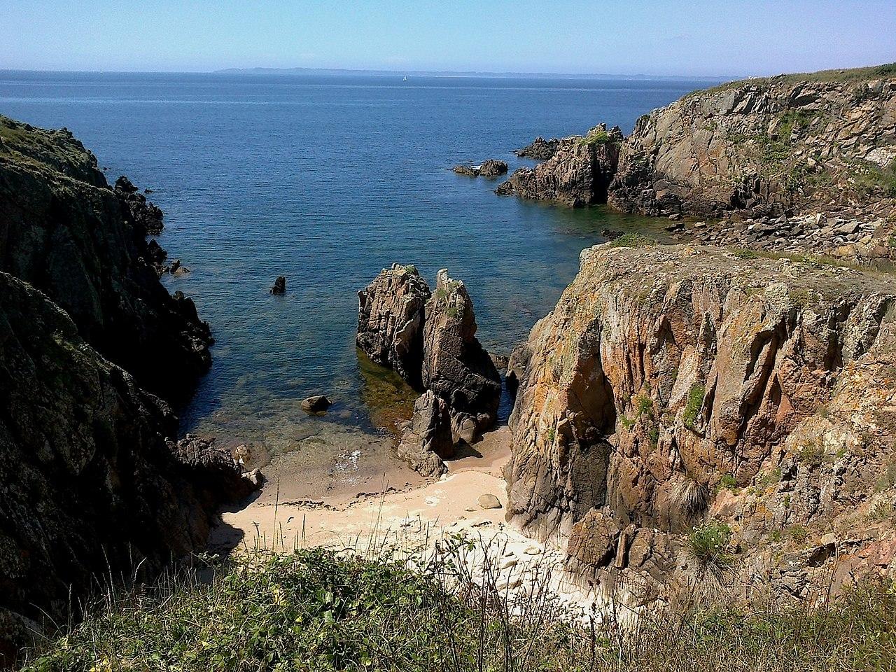 La côte nord d'Houat