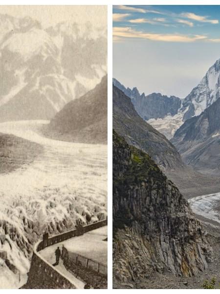 Mer des glaces dans les Alpes