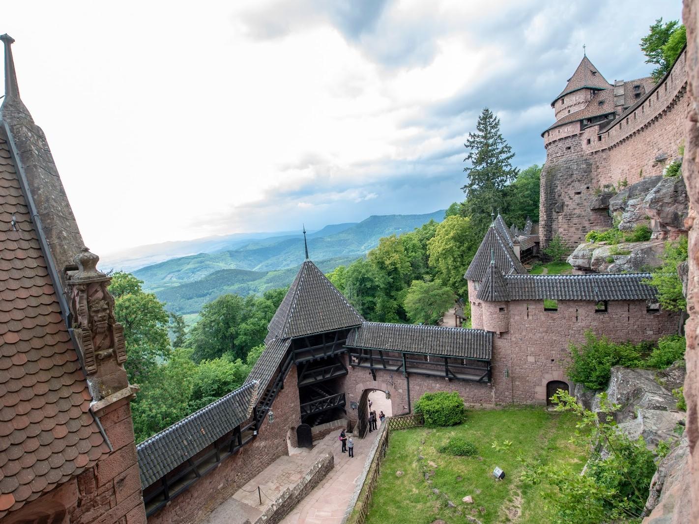 Château du Haut Kœnigsbourg remparts