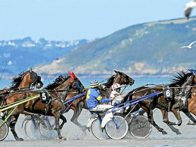 Course Plage Bretagne chevaux