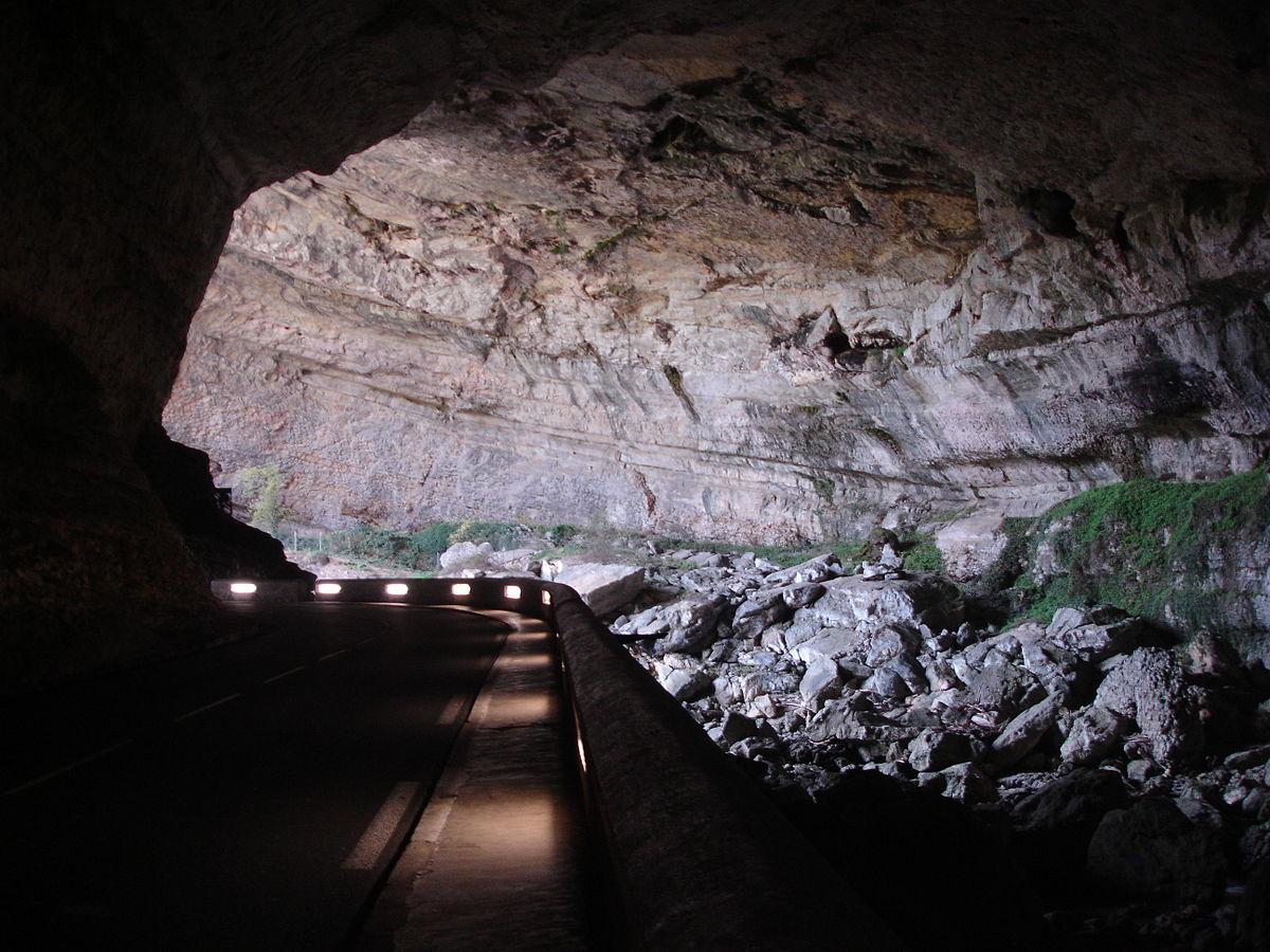 Grotte du Mas Azil route nuit