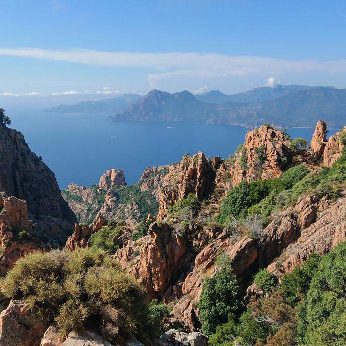 les calanques de Piana en Corse